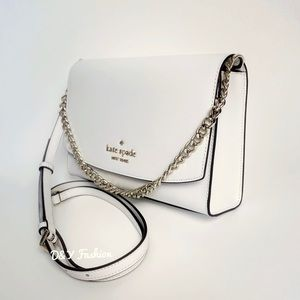 Kate Spade White Carson Convertible Crossbody Bag